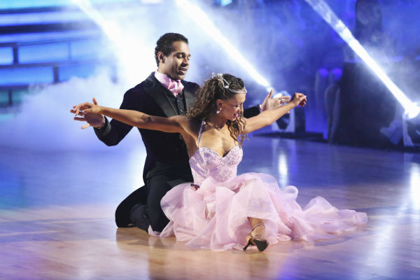 "<div class=""meta ""><span class=""caption-text "">Corbin Bleu and Karina Smirnoff dance the Foxtrot on week five of 'Dancing With The Stars' on Oct. 14, 2013. They received 28 out of 30 points from the judges. (ABC Photo / Adam Taylor)</span></div>"