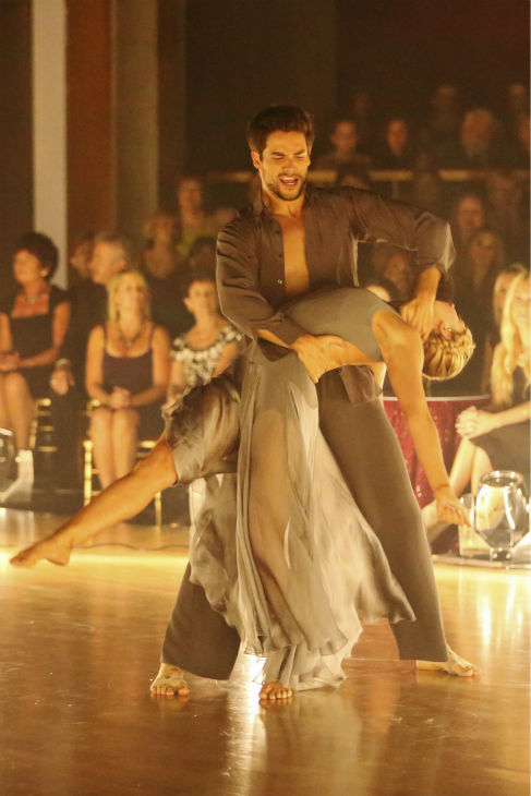 Brant Daugherty and Peta Murgatroyd dance Contemporary on week five of &#39;Dancing With The Stars&#39; on Oct. 14, 2013. They received 27 out of 30 points from the judges. <span class=meta>(ABC Photo &#47; Adam Taylor)</span>