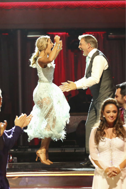Bill Engvall and Emma Slater await their fate on week five of &#39;Dancing With The Stars&#39; on Oct. 14, 2013. They received 24 out of 30 points from the judges for their Viennese Waltz. <span class=meta>(ABC Photo &#47; Adam Taylor)</span>
