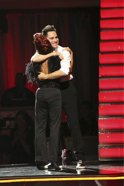 Nicole &#39;Snooki&#39; Polizzi and Sasha Farber find out they are safe from elimination on week five of &#39;Dancing With The Stars&#39; on Oct. 14, 2013. They received 27 out of 30 points from the judges for their Jazz. <span class=meta>(ABC Photo &#47; Adam Taylor)</span>