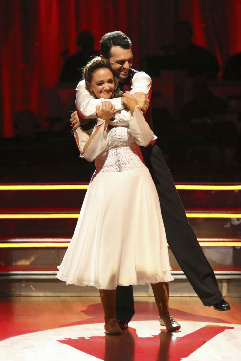 Leah Remini and Tony Dovolani react to being safe on week five of &#39;Dancing With The Stars&#39; on Oct. 14, 2013. They received 22 out of 30 points from the judges for their Contemporary routine. <span class=meta>(ABC Photo &#47; Adam Taylor)</span>