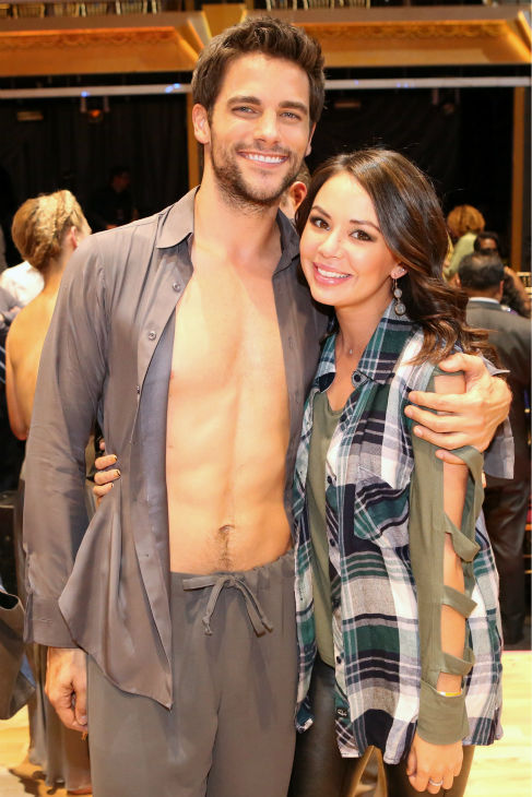 Brant Daugherty and Janel Parrish appear on week five of &#39;Dancing With The Stars&#39; on Oct. 14, 2013. They starred together on ABC Family&#39;s &#39;Pretty Little Liars.&#39; <span class=meta>(ABC Photo &#47; Adam Taylor)</span>