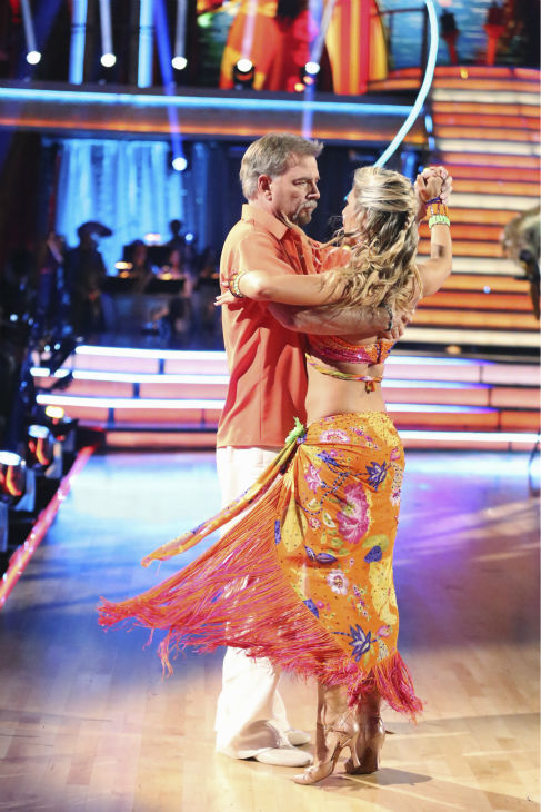 "<div class=""meta ""><span class=""caption-text "">Bill Engvall and Emma Slater dance the Tango on week six of 'Dancing With The Stars' on Oct. 21, 2013. They received 23 out of 30 points from the judges. The two received 1 out of 4 extra points from the 'Switch-Up Challenge.' (ABC / Adam Taylor)</span></div>"
