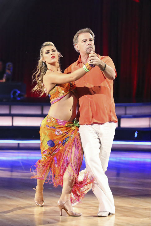 Bill Engvall and Emma Slater dance the Tango on week six of &#39;Dancing With The Stars&#39; on Oct. 21, 2013. They received 23 out of 30 points from the judges. The two received 1 out of 4 extra points from the &#39;Switch-Up Challenge.&#39; <span class=meta>(ABC &#47; Adam Taylor)</span>