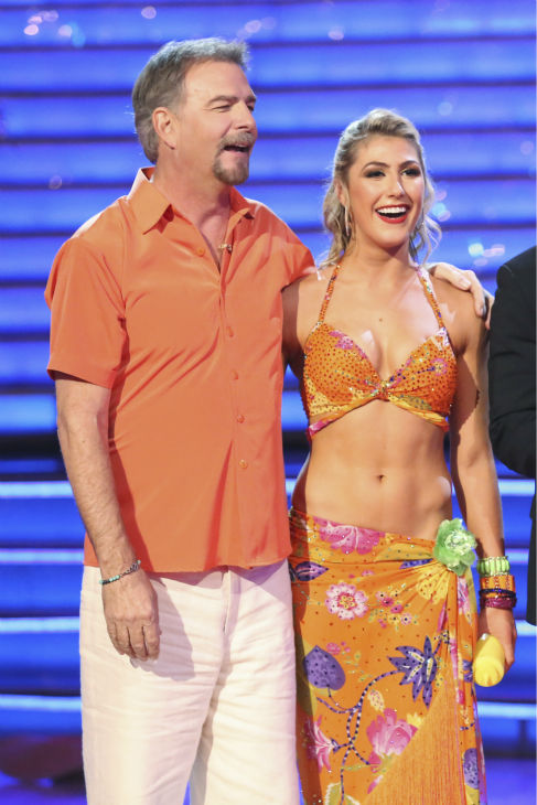 "<div class=""meta ""><span class=""caption-text "">Bill Engvall and Emma Slater danced the Tango on week six of 'Dancing With The Stars' on Oct. 21, 2013. They received 23 out of 30 points from the judges. The two received 1 out of 4 extra points from the 'Switch-Up Challenge.' (ABC / Adam Taylor)</span></div>"