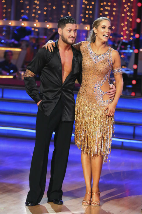 "<div class=""meta image-caption""><div class=""origin-logo origin-image ""><span></span></div><span class=""caption-text"">Elizabeth Berkley and Val Chmerkovskiy danced the Cha Cha Cha on week six of 'Dancing With The Stars' on Oct. 21, 2013. They received 30 out of 30 points from the judges. The two received 2 out of 4 extra points from the 'Switch-Up Challenge.' (ABC / Adam Taylor)</span></div>"