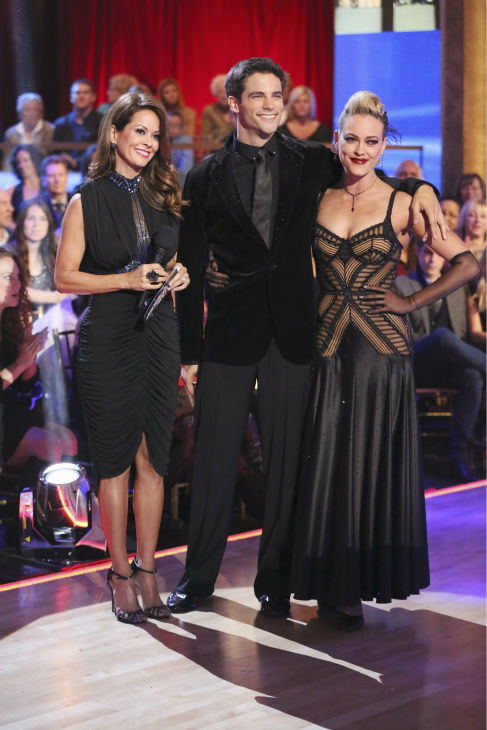 DANCING WITH THE STARS - &#34;Episode 1706&#34; - Eight remaining couples hit the dance floor and face an exciting new challenge on &#34;Dancing with the Stars,&#34; MONDAY, OCTOBER 21 &#40;8:00-10:01 p.m., ET&#41;. Each couple competed in an individual dance style they have not yet done as well as take part in the first ever &#34;Switch-Up Challenge.&#34;  &#40;ABC&#47;Adam Taylor&#41; BROOKE BURKE-CHARVET, BRANT DAUGHERTY, PETA MURGATROYD <span class=meta>(ABC &#47; Adam Taylor)</span>