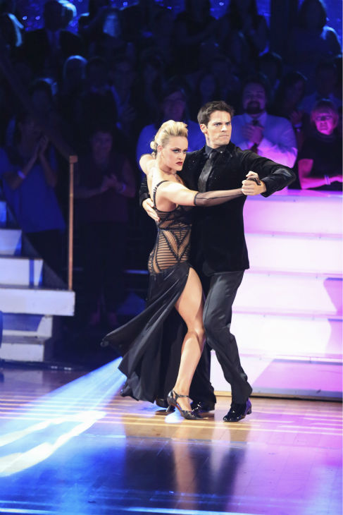 DANCING WITH THE STARS - &#34;Episode 1706&#34; - Eight remaining couples hit the dance floor and face an exciting new challenge on &#34;Dancing with the Stars,&#34; MONDAY, OCTOBER 21 &#40;8:00-10:01 p.m., ET&#41;. Each couple competed in an individual dance style they have not yet done as well as take part in the first ever &#34;Switch-Up Challenge.&#34;  &#40;ABC&#47;Adam Taylor&#41; PETA MURGATROYD, BRANT DAUGHERTY <span class=meta>(ABC &#47; Adam Taylor)</span>