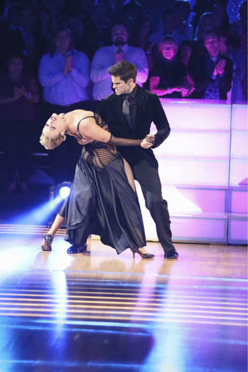 "<div class=""meta ""><span class=""caption-text "">DANCING WITH THE STARS - ""Episode 1706"" - Eight remaining couples hit the dance floor and face an exciting new challenge on ""Dancing with the Stars,"" MONDAY, OCTOBER 21 (8:00-10:01 p.m., ET). Each couple competed in an individual dance style they have not yet done as well as take part in the first ever ""Switch-Up Challenge.""  (ABC/Adam Taylor) PETA MURGATROYD, BRANT DAUGHERTY (ABC / Adam Taylor)</span></div>"