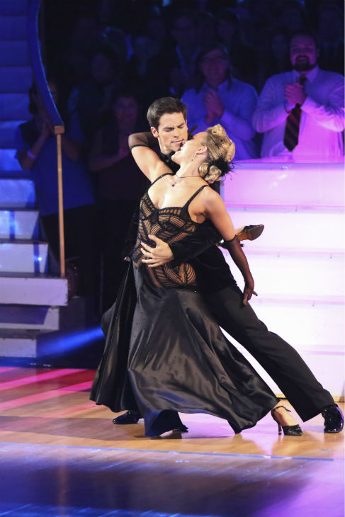 "<div class=""meta ""><span class=""caption-text "">DANCING WITH THE STARS - ""Episode 1706"" - Eight remaining couples hit the dance floor and face an exciting new challenge on ""Dancing with the Stars,"" MONDAY, OCTOBER 21 (8:00-10:01 p.m., ET). Each couple competed in an individual dance style they have not yet done as well as take part in the first ever ""Switch-Up Challenge.""  (ABC/Adam Taylor) BRANT DAUGHERTY, PETA MURGATROYD (ABC / Adam Taylor)</span></div>"