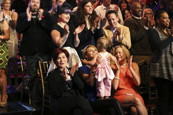 "<div class=""meta ""><span class=""caption-text "">Jack Osbourne's family cheers for him on ABC's 'Dancing With The Stars' appears on week 6 on Oct. 21, 2013. Pictured on the bottom: Contestant Jack Osbourne's mother Sharon Osbourne, wife Lisa Stelly and their daughter, Pearl. Pictured on top: His sister Kelly Osbourne and her fiance, Matthew Mosshart. (ABC / Adam Taylor)</span></div>"