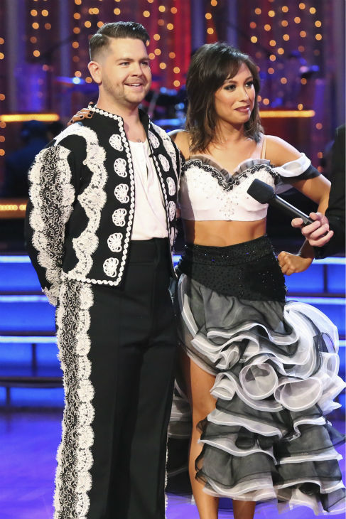 "<div class=""meta ""><span class=""caption-text "">Jack Osbourne and Cheryl Burke danced the Paso Doble on week six of 'Dancing With The Stars' on Oct. 21, 2013. They received 25 out of 30 points from the judges. The two received 2 out of 4 extra points from the 'Switch-Up Challenge.' (ABC / Adam Taylor)</span></div>"