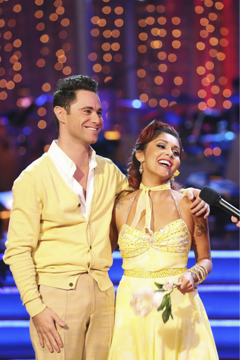 "<div class=""meta ""><span class=""caption-text "">Nicole 'Snooki' Polizzi and Sasha Farber danced the Foxtrot on week six of 'Dancing With The Stars' on Oct. 21, 2013. They received 27 out of 30 points from the judges. The two received 3 out of 4 extra points from the 'Switch-Up Challenge.' (ABC / Adam Taylor)</span></div>"