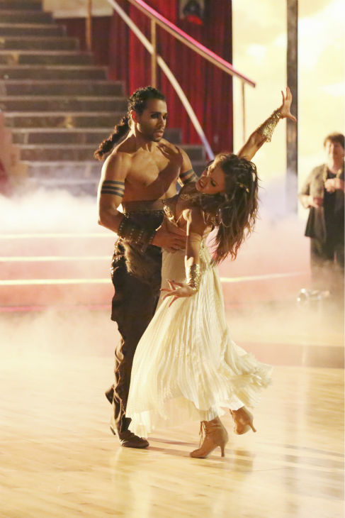 "<div class=""meta image-caption""><div class=""origin-logo origin-image ""><span></span></div><span class=""caption-text"">Corbin Bleu and Karina Smirnoff dance a 'Game of Thrones'-themed Viennese Waltz on week six of 'Dancing With The Stars' on Oct. 21, 2013. They received 23 out of 30 points from the judges. The two received 4 out of 4 extra points from the 'Switch-Up Challenge.' (ABC / Adam Taylor)</span></div>"