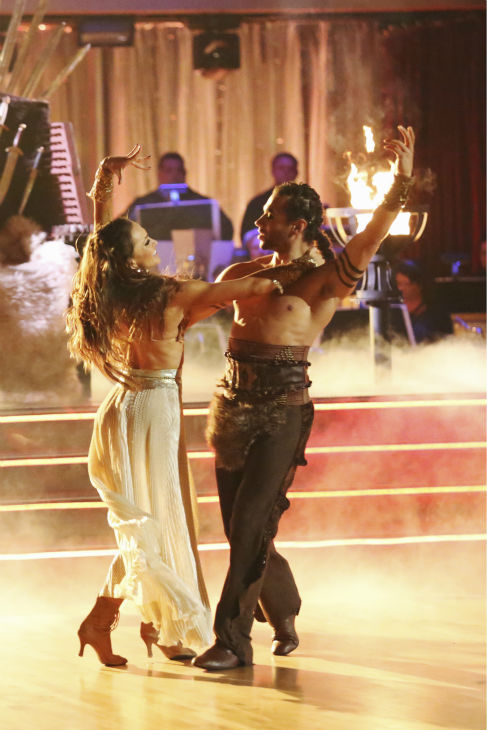 "<div class=""meta ""><span class=""caption-text "">Corbin Bleu and Karina Smirnoff dance a 'Game of Thrones'-themed Viennese Waltz on week six of 'Dancing With The Stars' on Oct. 21, 2013. They received 23 out of 30 points from the judges. The two received 4 out of 4 extra points from the 'Switch-Up Challenge.' (ABC / Adam Taylor)</span></div>"