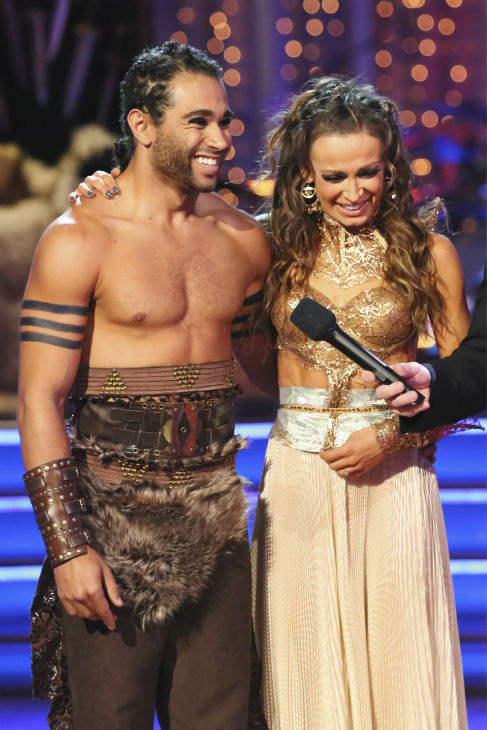 "<div class=""meta image-caption""><div class=""origin-logo origin-image ""><span></span></div><span class=""caption-text"">Corbin Bleu and Karina Smirnoff danced a 'Game of Thrones'-themed Viennese Waltz on week six of 'Dancing With The Stars' on Oct. 21, 2013. They received 23 out of 30 points from the judges. The two received 4 out of 4 extra points from the 'Switch-Up Challenge.' (ABC / Adam Taylor)</span></div>"