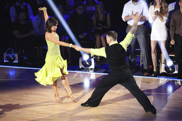 Jack Osbourne and Cheryl Burke dance during the &#39;Switch-Up Challenge&#39; on week six of &#39;Dancing With The Stars&#39; on Oct. 21, 2013. They received 2 out of 4 extra points for it. Earlier, they were given 25 out of 30 points for their Paso Doble. <span class=meta>(ABC &#47; Adam Taylor)</span>