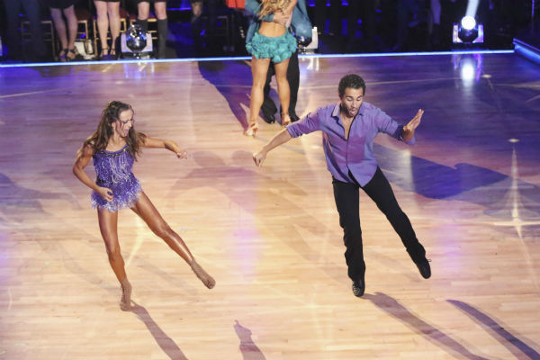 Corbin Bleu and Karina Smirnoff dance during the &#39;Switch-Up Challenge&#39; on week six of &#39;Dancing With The Stars&#39; on Oct. 21, 2013. They received 4 out of 4 extra points. Earlier, they were given 23 out of 30 points for their &#39;Game of Thrones&#39;-themed Viennese Waltz. No one was eliminated during the show. <span class=meta>(ABC &#47; Adam Taylor)</span>