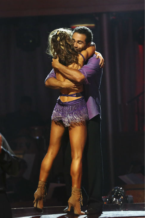 "<div class=""meta ""><span class=""caption-text "">Corbin Bleu and Karina Smirnoff react to winning 4 extra points from the 'Switch-Up Challenge' on 'Dancing With The Stars' on Oct. 21, 2013. Earlier, they were given 23 out of 30 points for their 'Game of Thrones'-themed Viennese Waltz. No one was eliminated during the show. (ABC / Adam Taylor)</span></div>"