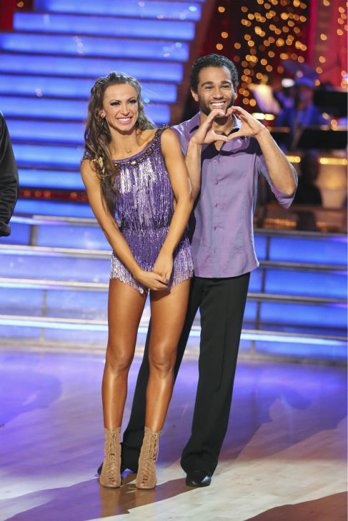 "<div class=""meta image-caption""><div class=""origin-logo origin-image ""><span></span></div><span class=""caption-text"">Corbin Bleu and Karina Smirnoff received 4 extra points from the 'Switch-Up Challenge' on 'Dancing With The Stars' on Oct. 21, 2013. Earlier, they were given 23 out of 30 points for their 'Game of Thrones'-themed Viennese Waltz. No one was eliminated during the show. (ABC / Adam Taylor)</span></div>"