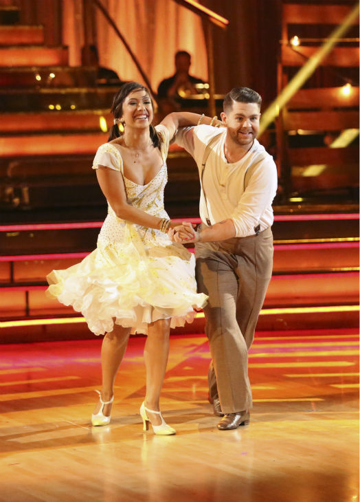 Jack Osbourne and Cheryl Burke dance the Jive on week seven of &#39;Dancing With The Stars&#39; on Oct. 28, 2013. They received 27 out of 30 points from the judges. The two received 30 out of 30 extra points from the team dance. <span class=meta>(ABC Photo &#47; Adam Taylor)</span>