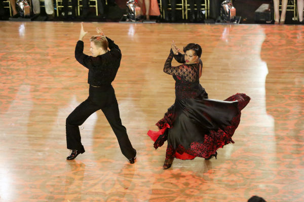 "<div class=""meta image-caption""><div class=""origin-logo origin-image ""><span></span></div><span class=""caption-text"">Amber Riley and Derek Hough dance the Paso Doble on week seven of 'Dancing With The Stars' on Oct. 28, 2013. They received 29 out of 30 points from the judges. The two received 30 out of 30 extra points from the Team dance. (ABC Photo / Adam Taylor)</span></div>"