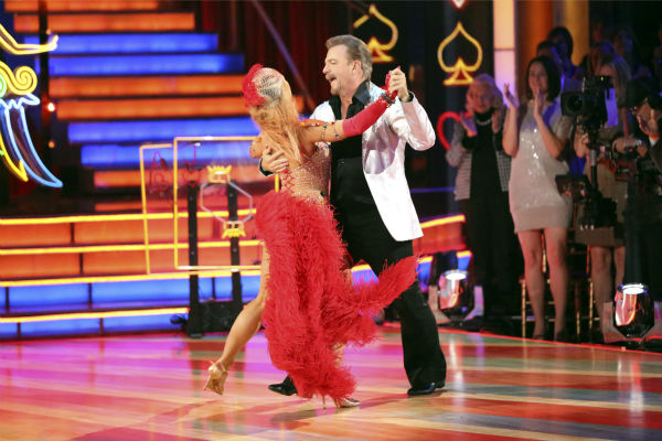 "<div class=""meta ""><span class=""caption-text "">Bill Engvall and Emma Slater dance the Quickstep on week seven of 'Dancing With The Stars' on Oct. 28, 2013. They received 23 out of 30 points from the judges. The two received 27 out of 30 extra points from the team dance. (ABC Photo / Adam Taylor)</span></div>"