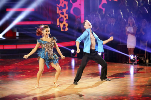 Nicole &#39;Snooki&#39; Polizzi and Sasha Farber dance the Samba on week seven of &#39;Dancing With The Stars&#39; on Oct. 28, 2013. They received 28 out of 30 points from the judges. The two received 27 out of 30 extra points from the team dance. <span class=meta>(ABC Photo &#47; Adam Taylor)</span>