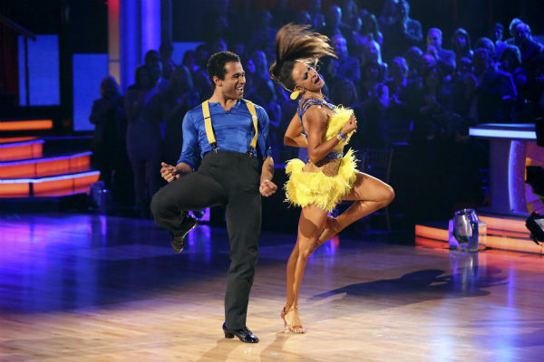 "<div class=""meta image-caption""><div class=""origin-logo origin-image ""><span></span></div><span class=""caption-text"">Corbin Bleu and Karina Smirnoff dance the Cha Cha Cha on week seven of 'Dancing With The Stars' on Oct. 28, 2013. They received 29 out of 30 points from the judges. The two received 30 out of 30 extra points from the team dance. (ABC Photo / Adam Taylor)</span></div>"
