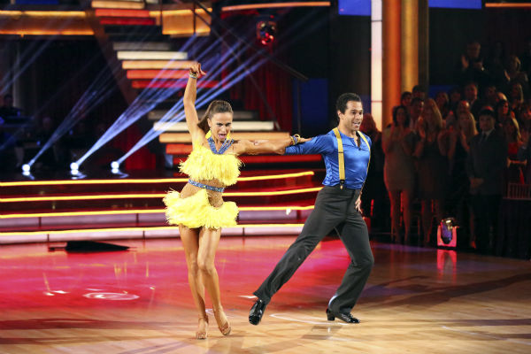 Corbin Bleu and Karina Smirnoff dance the Cha Cha Cha on week seven of 'Dancing With The Stars' on Oct. 28, 2013.