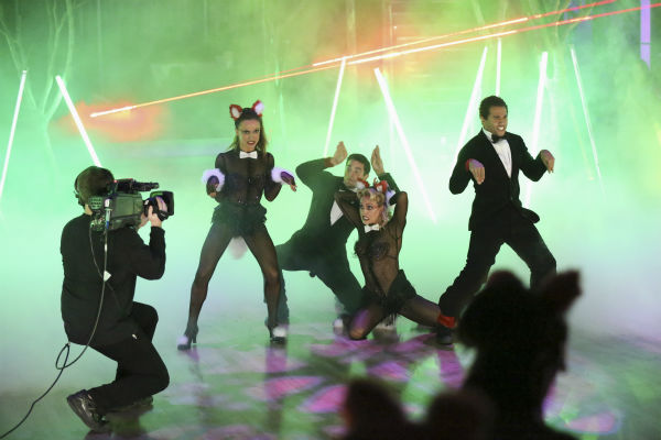 Corbin Bleu and Brant Daugherty were among the contestants who danced freestyle in a group to &#39;The Fox &#40;What Does the Fox Say?&#41;&#39; on &#39;Dancing With The Stars&#39; on Oct. 28, 2013. <span class=meta>(ABC Photo &#47; Adam Taylor)</span>