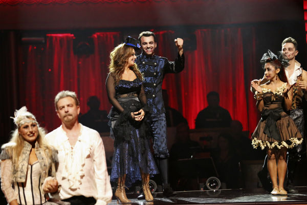 "<div class=""meta ""><span class=""caption-text "">Leah Remini and Tony Dovolani react to being safe on week seven of 'Dancing With The Stars' on Oct. 28, 2013. They received 26 out of 30 points from the judges for their Salsa. The two received 27 out of 30 extra points from the team dance. (ABC Photo / Adam Taylor)</span></div>"