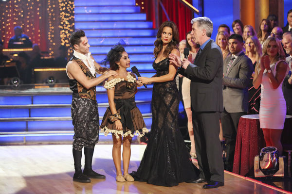 "<div class=""meta ""><span class=""caption-text "">Nicole 'Snooki' Polizzi and Sasha Farber react to being eliminated on week seven of 'Dancing With The Stars' on Oct. 28, 2013. They received 28 out of 30 points from the judges for their Samba. The two received 27 out of 30 extra points from the team dance. (ABC Photo/ Adam Taylor)</span></div>"