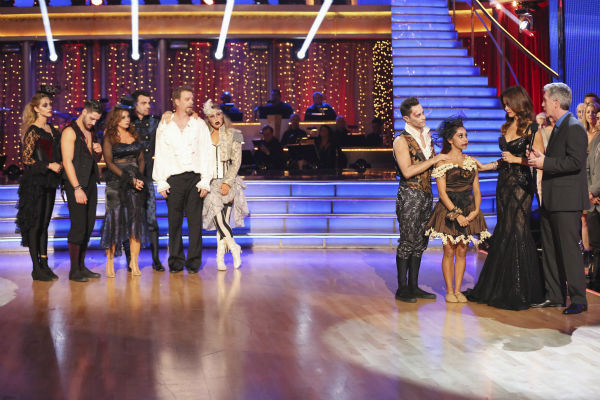 Nicole &#39;Snooki&#39; Polizzi and Sasha Farber react to being eliminated on week seven of &#39;Dancing With The Stars&#39; on Oct. 28, 2013. They received 28 out of 30 points from the judges for their Samba. The two received 27 out of 30 extra points from the team dance. <span class=meta>(ABC Photo&#47; Adam Taylor)</span>