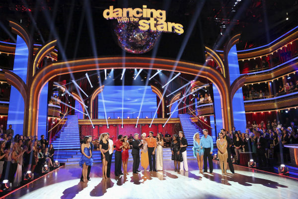 The cast of season 17 of ABC's 'Dancing With The Stars' appear on stage on Nov. 11, 2013.