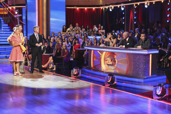 "<div class=""meta image-caption""><div class=""origin-logo origin-image ""><span></span></div><span class=""caption-text"">Bill Engvall and Emma Slater danced the Charleston on week nine of 'Dancing With The Stars' on Nov. 11, 2013. They received 21 out of 30 points from the judges. The two later received 21 out of 30 for during the trio round with Peta Murgatroyd. (ABC Photo / Adam Taylor)</span></div>"