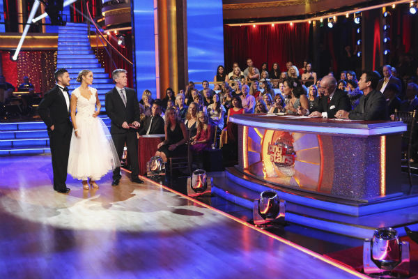 "<div class=""meta ""><span class=""caption-text "">Elizabeth Berkley and Val Chmerkovskiy danced the Viennese Waltz on week nine of 'Dancing With The Stars' on Nov. 11, 2013. They received 26 out of 30 points from the judges. The two later received 30 out of 30 during the trio round with Gleb Savchenko. (ABC Photo / Adam Taylor)</span></div>"