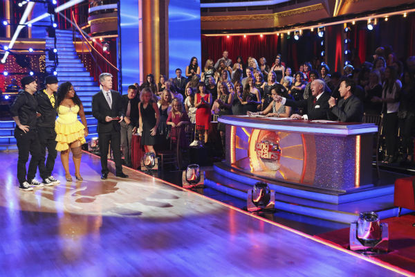 "<div class=""meta ""><span class=""caption-text "">Amber Riley and Derek Hough danced the Quickstep on week nine of 'Dancing With The Stars' on Nov. 11, 2013. They received 24 out of 30 points from the judges. The two later received 27 out of 30 for during the trio round with Mark Ballas. (ABC Photo / Adam Taylor)</span></div>"
