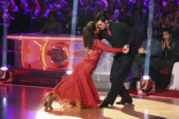 "<div class=""meta image-caption""><div class=""origin-logo origin-image ""><span></span></div><span class=""caption-text"">Leah Remini and Tony Dovolani dance the Tango on week nine of 'Dancing With The Stars' on Nov. 11, 2013. They received 27 out of 30 points from the judges. The two later received 27 out of 30 during the trio round with Henry Byalikov. (ABC Photo / Adam Taylor)</span></div>"