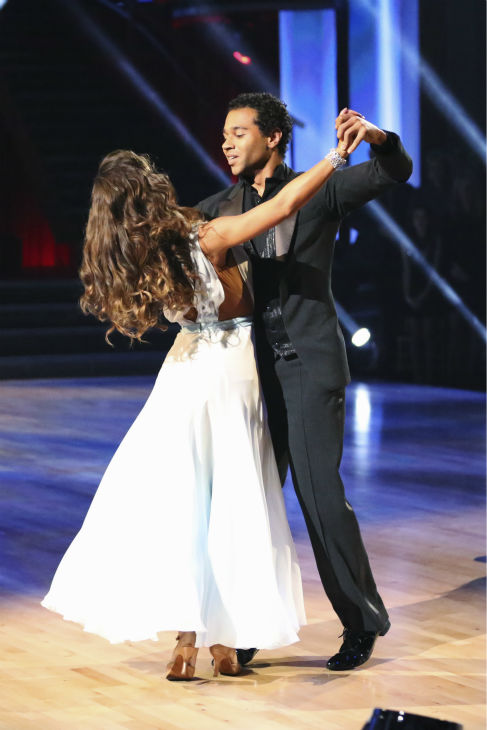 Corbin Bleu and Karina Smirnoff dance the Waltz on week nine of &#39;Dancing With The Stars&#39; on Nov. 11, 2013. They received 28 out of 30 points from the judges. The two later received 30 out of 30 during the trio round with Witney Carson. <span class=meta>(ABC Photo &#47; Adam Taylor)</span>