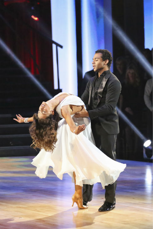 "<div class=""meta ""><span class=""caption-text "">Corbin Bleu and Karina Smirnoff dance the Waltz on week nine of 'Dancing With The Stars' on Nov. 11, 2013. They received 28 out of 30 points from the judges. The two later received 30 out of 30 during the trio round with Witney Carson. (ABC Photo / Adam Taylor)</span></div>"