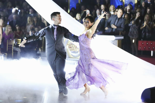 Jack Osbourne and Cheryl Burke dance the Viennese Waltz on week nine of &#39;Dancing With The Stars&#39; on Nov. 11, 2013. They received 29 out of 30 points from the judges. The two later received 25 out of 30 during the trio round with Sharna Burgess. <span class=meta>(ABC Photo &#47; Adam Taylor)</span>