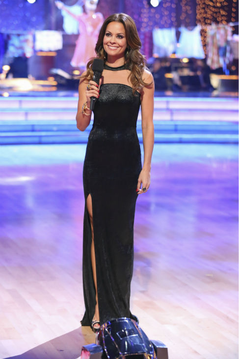 "<div class=""meta image-caption""><div class=""origin-logo origin-image ""><span></span></div><span class=""caption-text"">Co-host Brooke Burke-Charvet appears during week nine of 'Dancing With The Stars' on Nov. 11, 2013. (ABC Photo / Adam Taylor)</span></div>"