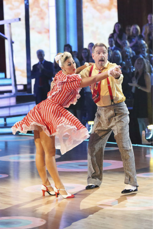 Bill Engvall and Emma Slater dance the Charleston on week nine of &#39;Dancing With The Stars&#39; on Nov. 11, 2013. They received 21 out of 30 points from the judges. The two later received 21 out of 30 for during the trio round with Peta Murgatroyd. <span class=meta>(ABC Photo &#47; Adam Taylor)</span>