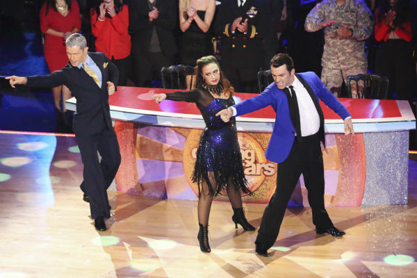 "<div class=""meta image-caption""><div class=""origin-logo origin-image ""><span></span></div><span class=""caption-text"">Leah Remini and Tony Dovolani dance the Jive with Henry Byalikov and received 27 out of 30 during the trio round on week nine of 'Dancing With The Stars' on Nov. 11, 2013. Earlier in the episode the two received 27 out of 30 for their Tango. (ABC Photo / Adam Taylor)</span></div>"