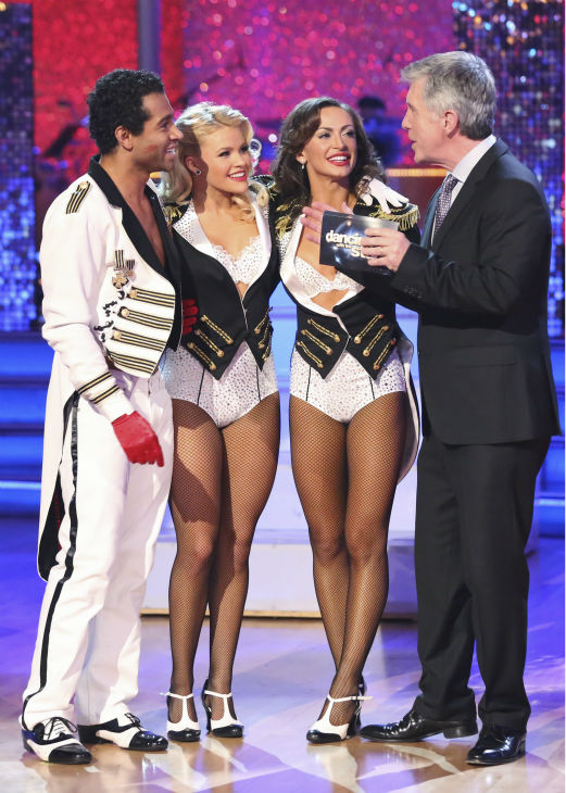 Corbin Bleu and Karina Smirnoff danced Jazz with Whitney Carson and received 30 out of 30 during the trio round on week nine of &#39;Dancing With The Stars&#39; on Nov. 11, 2013. Earlier in the episode the two received 28 out of 30 for their Viennese Waltz. <span class=meta>(ABC Photo &#47; Adam Taylor)</span>