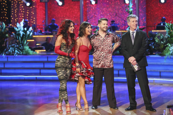 "<div class=""meta image-caption""><div class=""origin-logo origin-image ""><span></span></div><span class=""caption-text"">Jack Osbourne and Cheryl Burke danced the Samba with Sharna Burgess and received 27 out of 30 during the trio round on week nine of 'Dancing With The Stars' on Nov. 11, 2013. Earlier in the episode the two received 29 out of 30 for their Viennese Waltz. (ABC Photo / Adam Taylor)</span></div>"