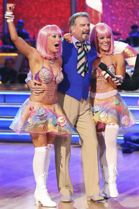 Bill Engvall and Emma Slater danced Salsa with Peta Murgatroyd and received 21 out of 30 during the trio round on week nine of &#39;Dancing With The Stars&#39; on Nov. 11, 2013. Earlier in the episode the two received 21 out of 30 for their Charleston. <span class=meta>(ABC Photo &#47; Adam Taylor)</span>