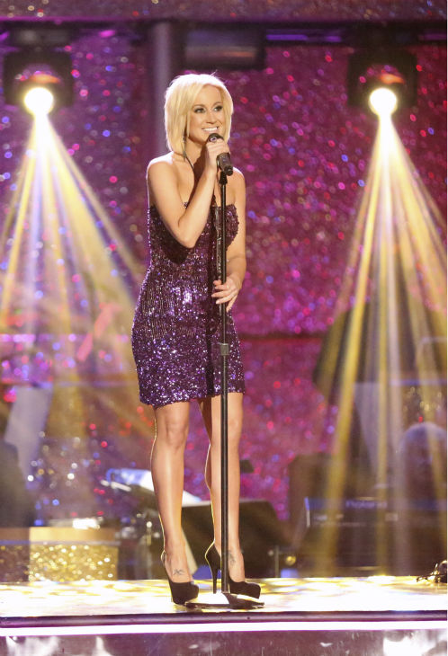 Kellie Pickler performs her hit song 'Little Bit Gypsy' on 'Dancing With The Stars'week 11, the pre-finale of season 17, on Nov. 25, 2013. Pickler won season 16.