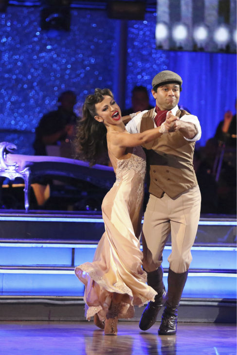"<div class=""meta ""><span class=""caption-text "">Corbin Bleu and Karina Smirnoff dance their 'Judges' Pick' Quickstep on week 11 of 'Dancing With The Stars' on Nov. 25, 2013. They received 27 out of 30 points from the judges. The two scored a total of 62 out of 65 points for the night. (ABC Photo / Adam Taylor)</span></div>"